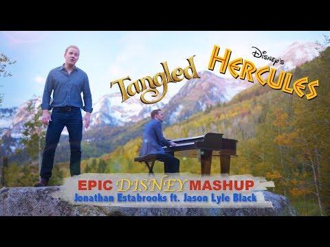 "EPIC DISNEY MASHUP (Go The Distance & ""Tangled"")  | Jonathan Estabrooks ft. Jason Lyle Black"
