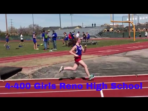 Reno High School Track Girls 4 - 400 Relay