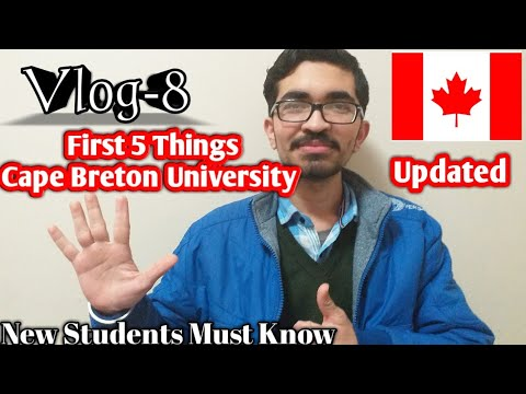 Cape Breton University| 5 Things To Do After Coming CBU |Vlog-8| Sydney, Nova Scotia | In2Can Vlogs