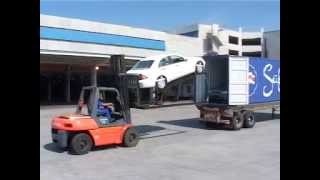 How to Load Cars Into Containers