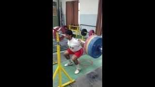 185kg Raw Squat 3x Bodyweight @61.4kg/19 yrs 7 reps!