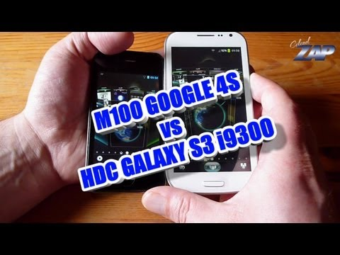 M100 Google 4S vs. HDC Galaxy S3 i9300 - comparison - Dual Sim - Fastcardtech - ColonelZap - Clone?
