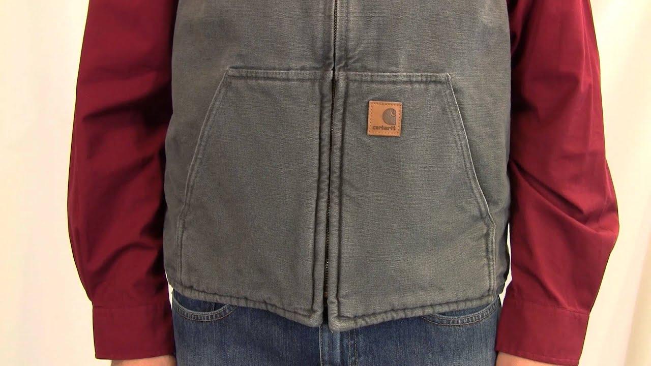 Protection mock sandstone sherpa vest carhartt lined neck men womenu0027s cotton