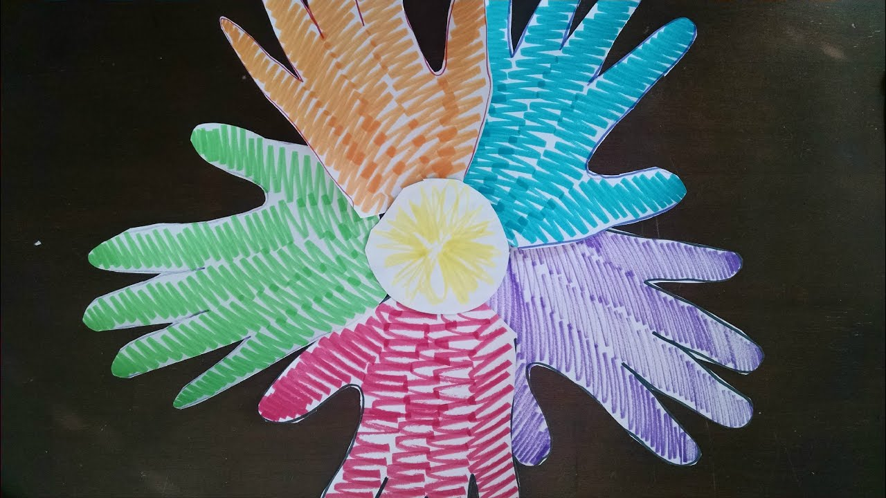 craft ideas to do with kids easiest arts and crafts for easy handprint flower 7618
