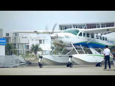 Fly 100m over Halong bay with Seaplane in Vietnam