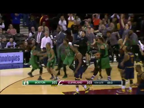 Avery Bradley Hits the Game Winner in Cleveland!