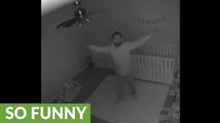 She played back her baby monitor and found this hilarious footage!