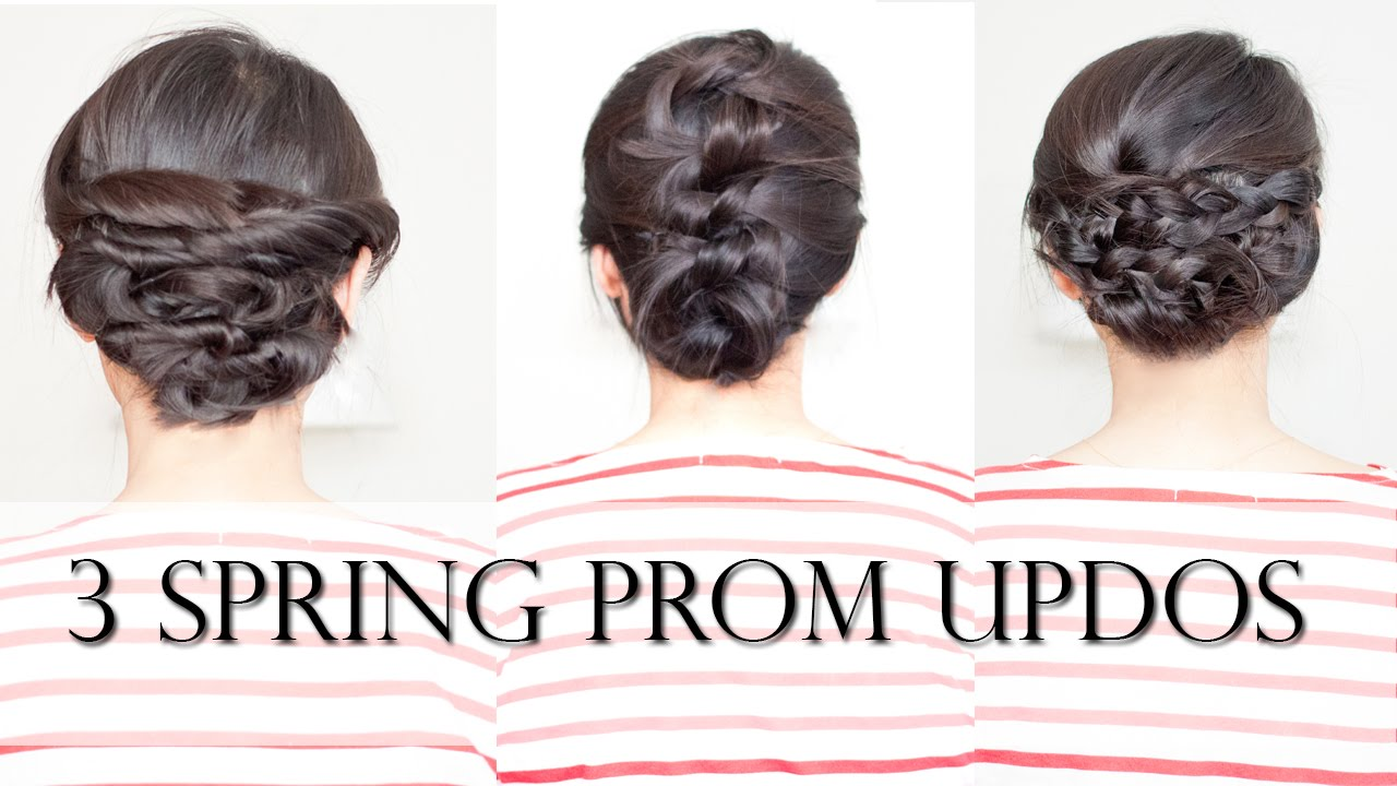 3 Easy Spring Prom Updos for Shoulder Medium Length Hair (no-heat ...