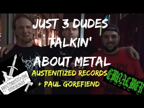 Just three guys talking about heavy metal