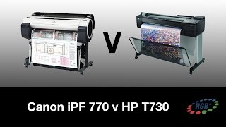 CANON iPF770 Vs HP T730