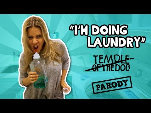 """I'm doing laundry"" Hunger Strike, Temple of The Dog  PARODY/ The Holderness Family"