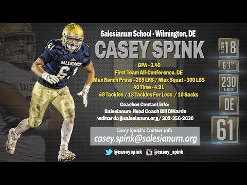 Casey Spink 2016 Highlights, Salesianum School