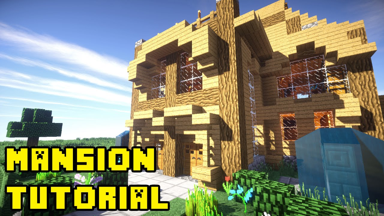 Minecraft Survival Mansion Tutorial How To Build Youtube