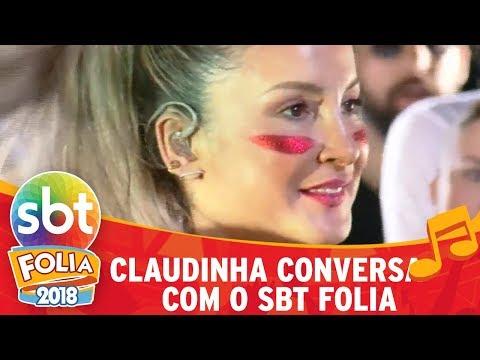 Claudia Leitte bate um papo com o SBT Folia