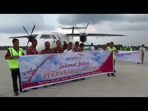 Xpress Air Inaugural Flight Dornier 328-100 XN9070 Pekanbaru (PKU) to Malacca (MKZ)
