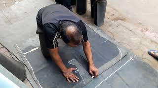 Auto Vehicle car floor Mat Cut Rubber Flooring Install Video