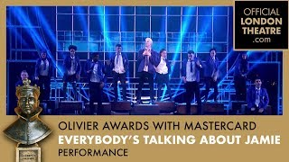 Everybody's Talking About Jamie performance at the Olivier Awards 2018 with Mastercard
