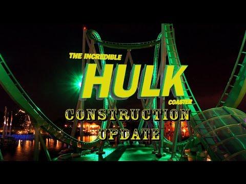 Universal Orlando Resort Construction Update 7.8.16 HULK LIGHTING TESTS & Toothsome