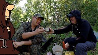 За такого окуня можно и выпить чай конечно Клевая рыбалка с берега на реке Сок