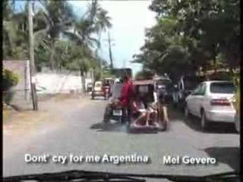 Don't cry for me Argentina Mel Gevero