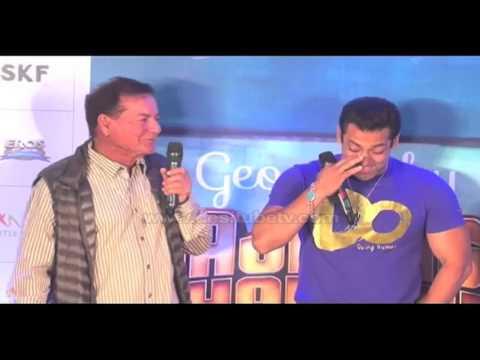 Father Salim Khan Having Fun With Son Salman Khan- Full On Masti Time At Book Launch