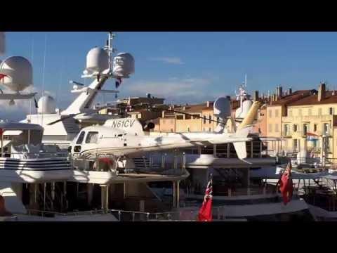 Helicopter, Yacht á Port de Saint-Tropez