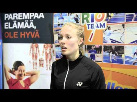 SM - 2015- Naisten kaksinpelin Suomen mestari Nanna Vainio