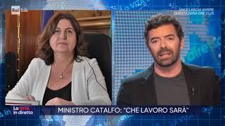 Nunzia catalfo a la vita in diretta rai1 21/5/2020