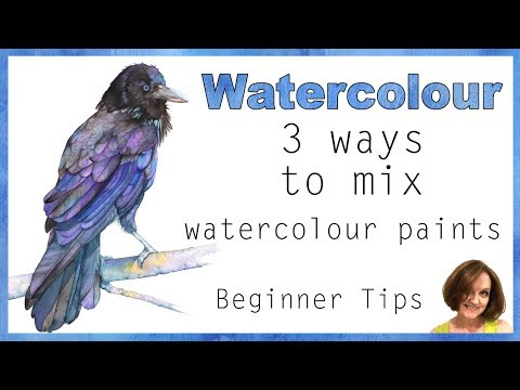 How To Mix Watercolor Paint 3 Ways // Beginner Watercolor Tips And Techniques