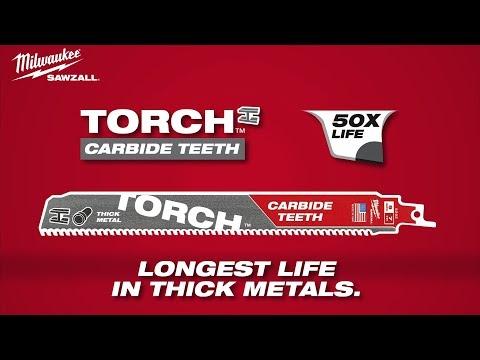 Milwaukee® Torch™ Carbide Teeth Sawzall® Blades