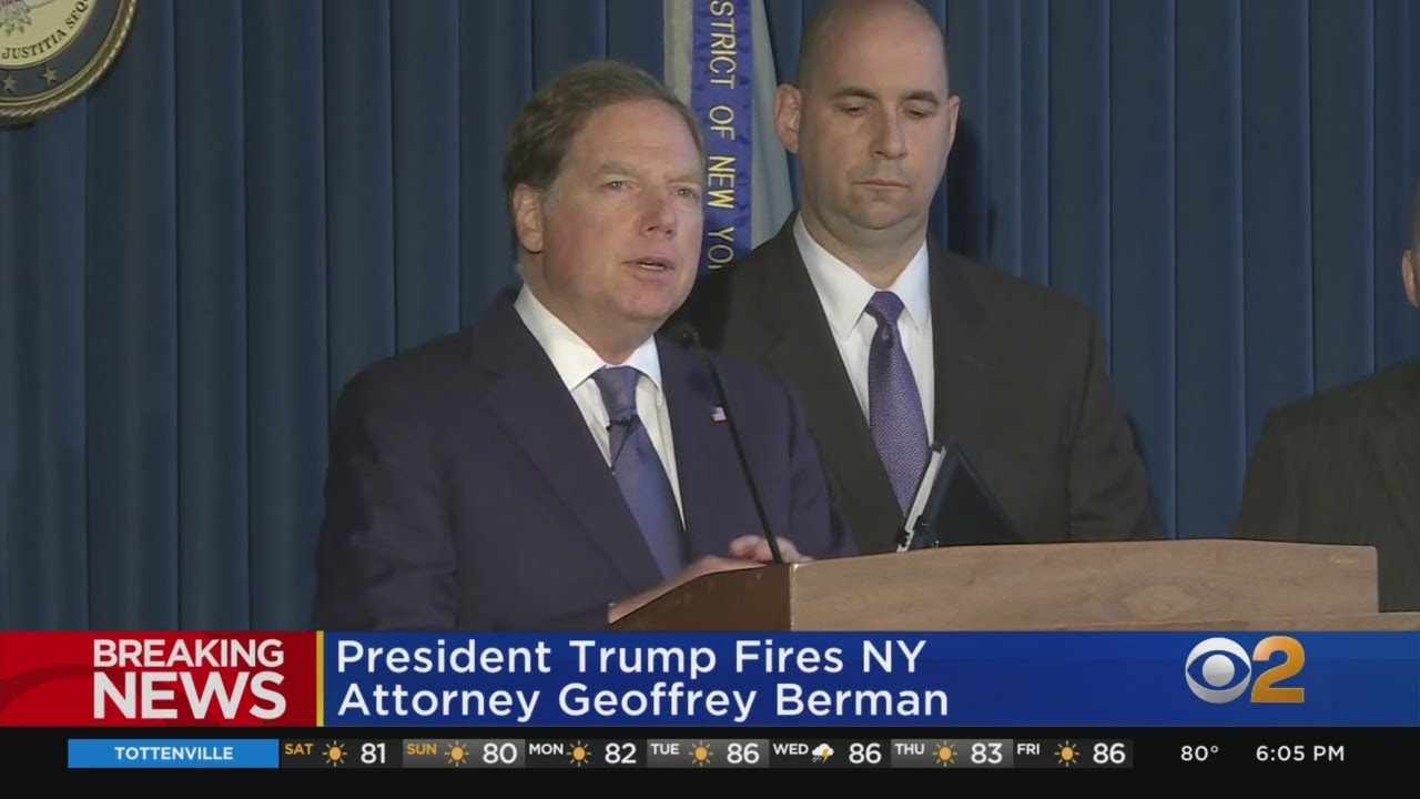 Geoffrey Berman Resigns as Manhattan US Attorney, Ending ...
