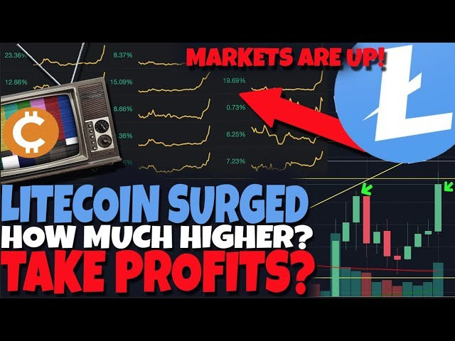 Litecoin SURGED - Entire Crypto Market Up! How Much Higher. When Will I Take Profits?