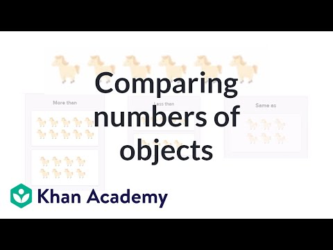 Comparing Numbers Of Objects | Counting | Early Math | Khan Academy