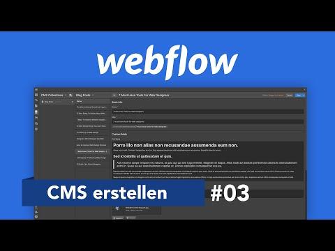 Webflow CMS: Dynamische Inhalte & Design erstellen (Tutorial) Alles was du wissen musst