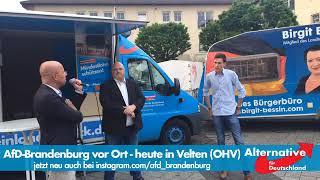 AfD Brandenburg diskutiert mit einem FDP Sympathisanten, welcher der AfD Lügen unterstellt. 21.5.19