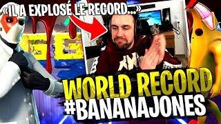 Le World record de Michou explosé sur mon Deathrun #BananaJones Fortnite Créatif !
