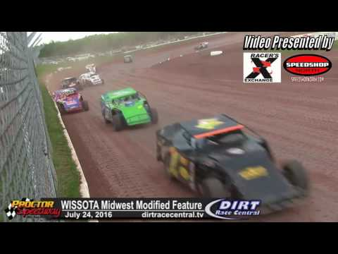 Proctor Speedway 7/24/16 WISSOTA Midwest Modified Highlights