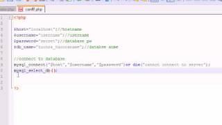 PHP Tutorial - 28 - het Creëren van Verbinding en Tabellen voor het Spel
