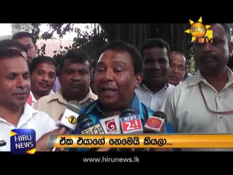 SB Disanayake On Hiru TV