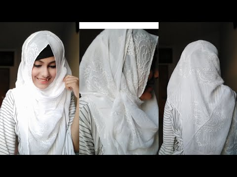 Easy hijab tutorial for school and college students.. No layer hijab tutorial  || Noshin Nower ❤