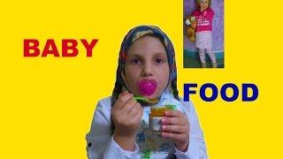 ДЕТСКОЕ ПИТАНИЕ // BABY FOOD CHALLENGE(В данном видео, мама кормит меня как малышку детским питанием Фруто Няня и я должна угадать вкус., 2016-03-25T12:00:01.000Z)