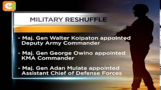 VIDEO: Military Reshuffle