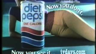 80s - Various Diet Pepsi commercials - Now you see it,Now you don