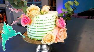 Echte Blumen auf Torten montieren - Pestizide, Steckschaum, Bienenwachs und vieles mehr - Kuchenfee