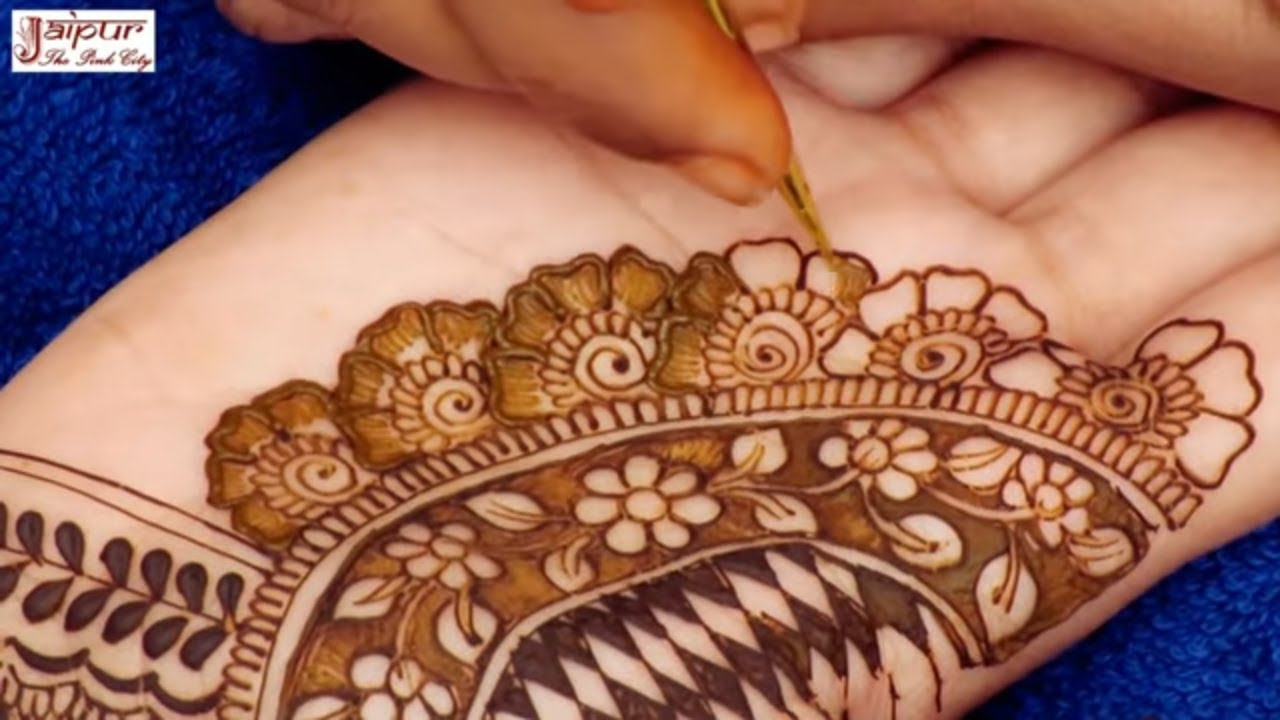 Mehndi Designs Hands Net Simple Easy : How to apply net mehndi design with negative space technique