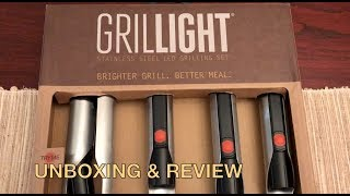 Unboxing & Review Grillight Stainless Steel Grilling set/ LED Lights.Cheekyricho cooking ep. 1,222