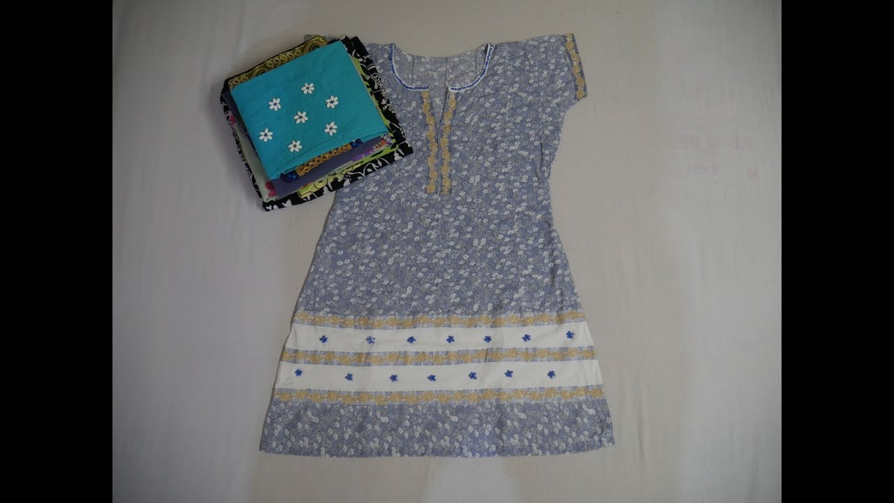 Old Clothes Into New Clothes (Ideas To Convert Short And Waste Clothes Into  Designer Dresses)