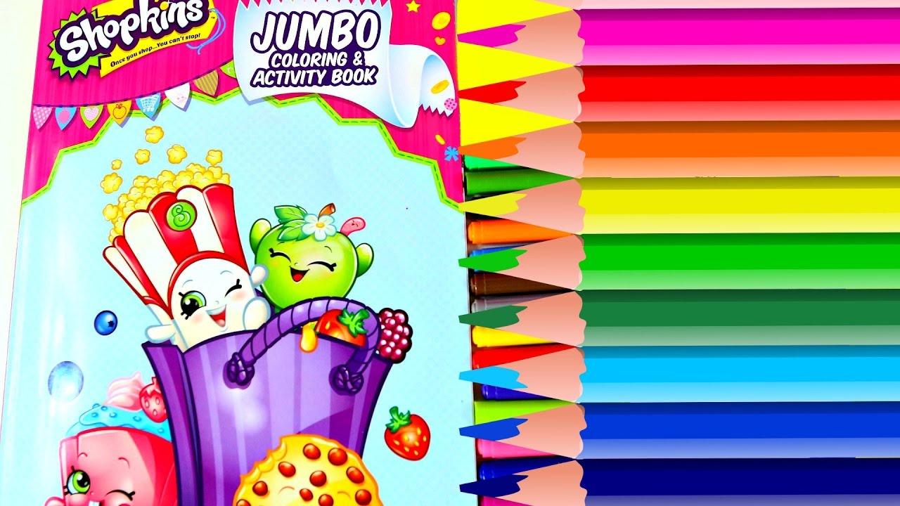 Coloreando Dibujos de Shopkins Libro de Actividades| Coloring Book ...