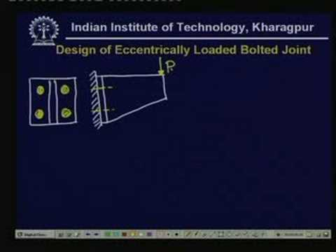 Lecture - 25 Design of Joints With Eccentric Loading