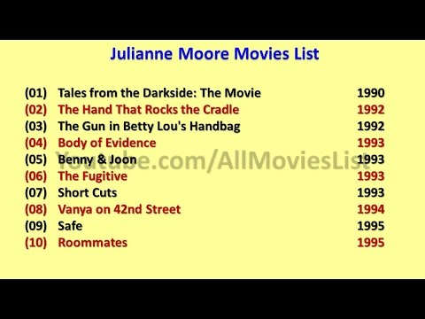 Julianne Moore Movies List